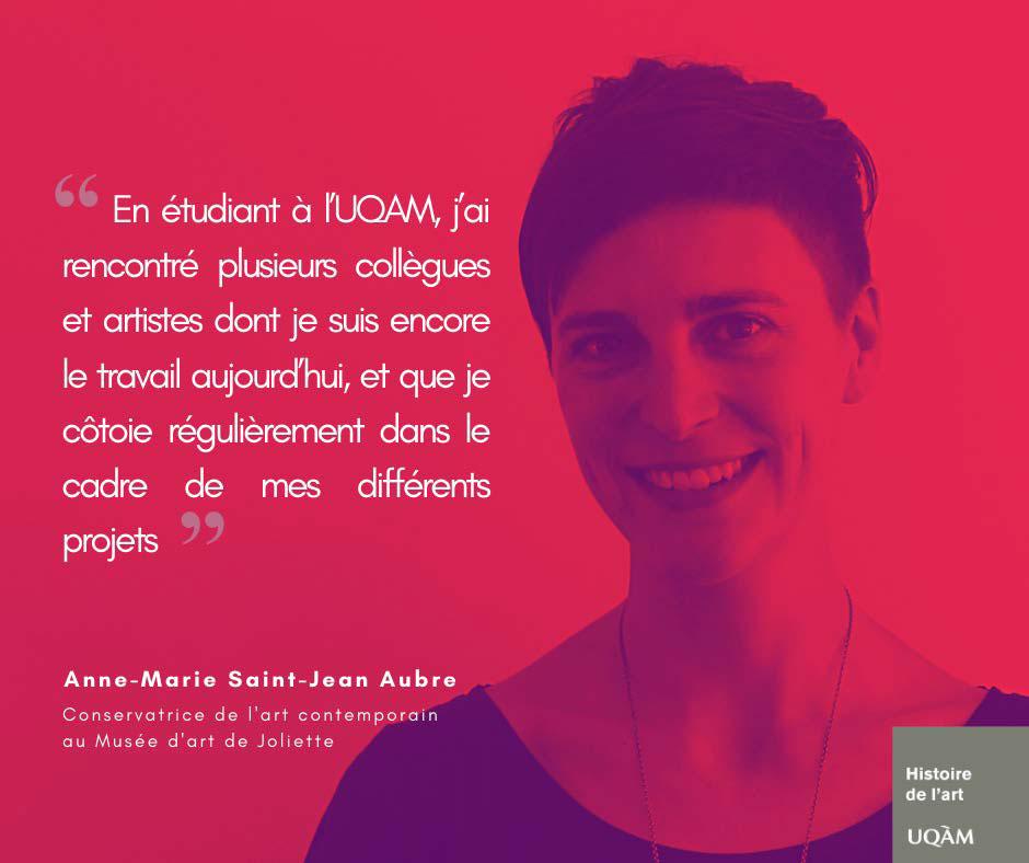 Anne-Marie Saint-Jean Aubre, Conservatrice de l'Art contemporain au Musée d'art de Joliette